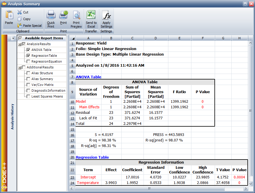 regression analysis and summary page results How to run regression analysis in microsoft excel regression analysis can be very helpful for analyzing large amounts of data and making forecasts and predictions.