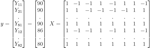 y=\left[ \begin{matrix}