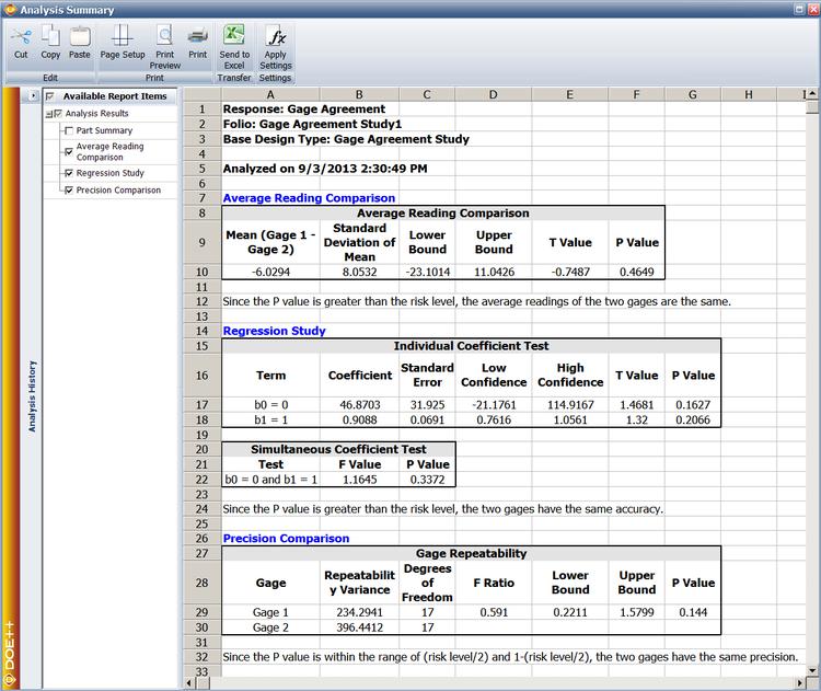 Study analysis system design